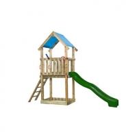 SwingKing speeltoren Lizzy met glijbaan - groen