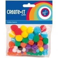 Create-It Pompons 78 Stuks