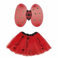 Boland verkleedset lieveheersbeestje deluxe 2 delig zwart/rood
