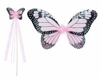 Boland verkleedset vlinder 2 delig meisjes lichtroze