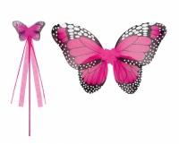 Boland verkleedset vlinder 2 delig meisjes felroze
