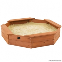 Octogonale/achthoekige houten zandbak - Plum