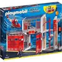 9462 Playmobil Grote Brandweerkazerne Met Helicopter