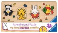 Ravensburger houten puzzel Nijntje en haar dierenvriendjes