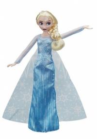 Hasbro Disney Frozen tienerpop Elsa met slee 28 cm blauw