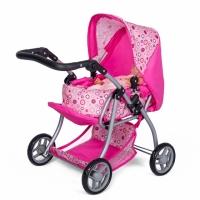 Mini Mommy Poppenwagen roze 59 x 35,5 x 62 cm